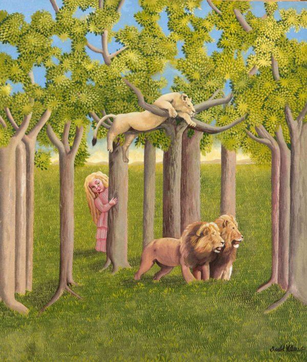 Niña con leones 2020