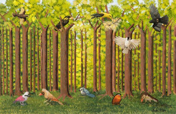 Pájaros en el bosque 2019
